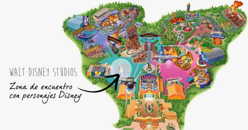 Trucos Disney - Zona de encuentro con personajes en el Walt Disney Studio