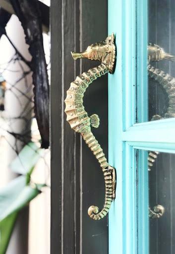 Seahorse Cabinet Door Pulls Hardware Idea