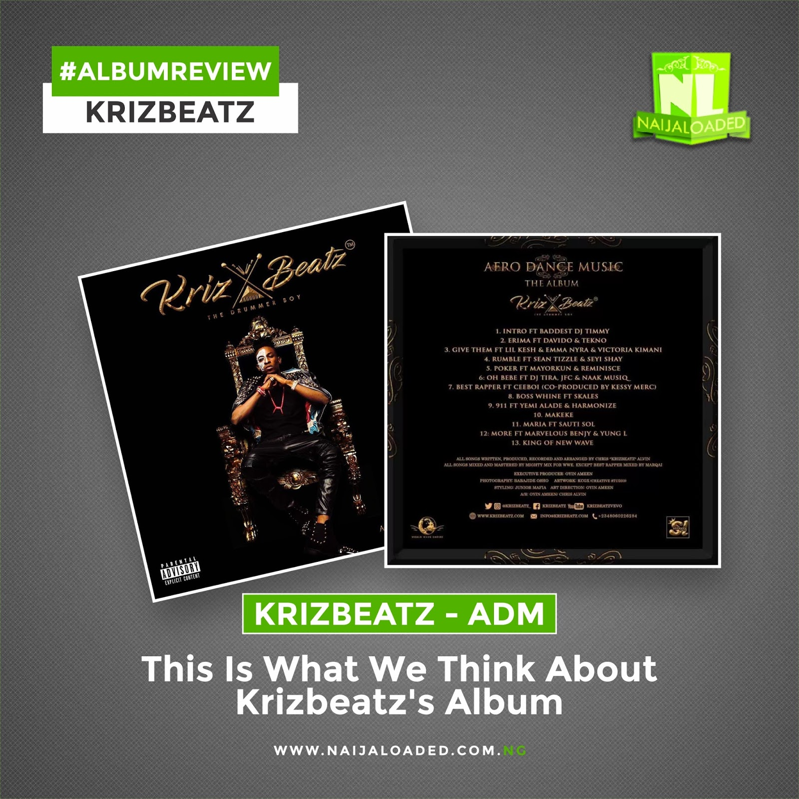 """ALBUM REVIEW: Here Is What We Think About Krizbeatz' """"ADM"""" » Naijaloaded"""