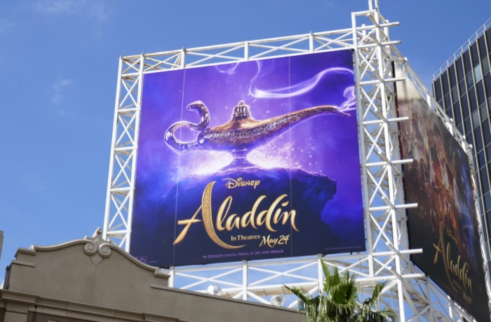 Aladdin movie lamp billboard