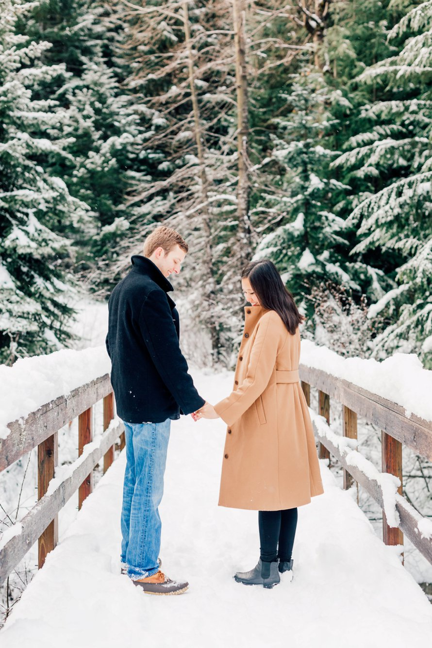 Snowy Engagement-Crystal Mountain Photographers-Something Minted Photography