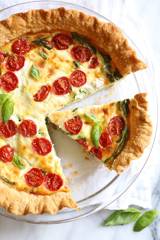 Delicious Diet Quiche With Spinach And Ricotta Good For Health