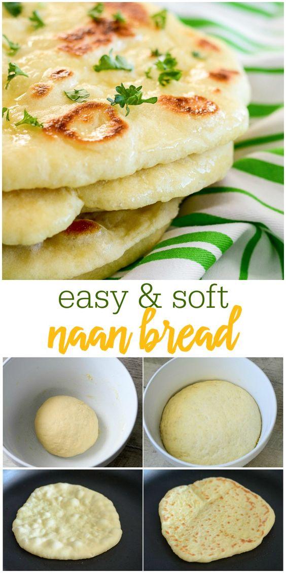 HOMEMADE NAAN BREAD #Homemade #Naan #bread #Delecios #Softbread #Easybread