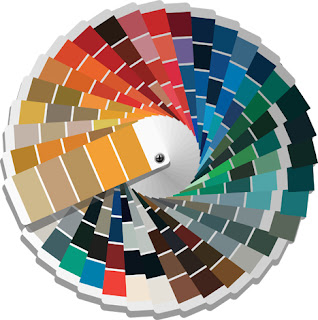 Clipart Image of a Colour Palette Wheel