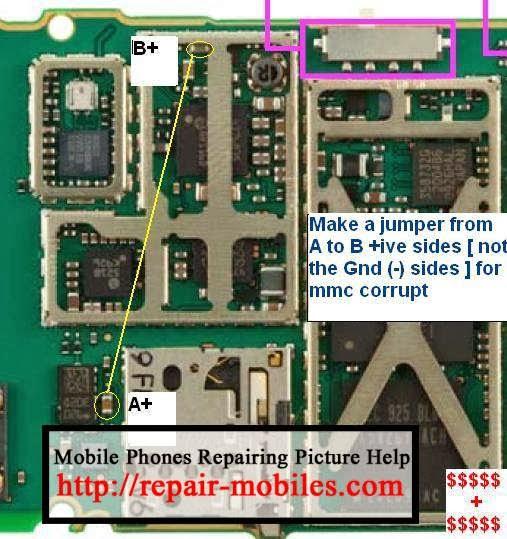 Repair Helps Nokia 205 Mmc Ways Problem Jumper Solution