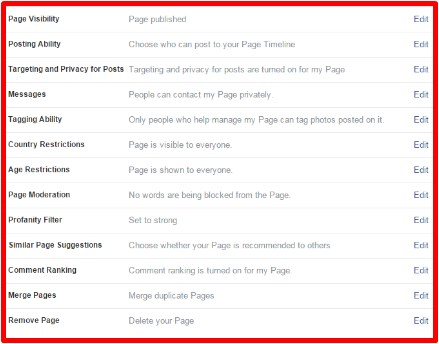 best way to set up a facebook page for a business