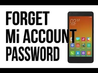 Cara reset password Mi account