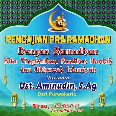 Desain Banner Pengajian Pra Ramadhan cdr