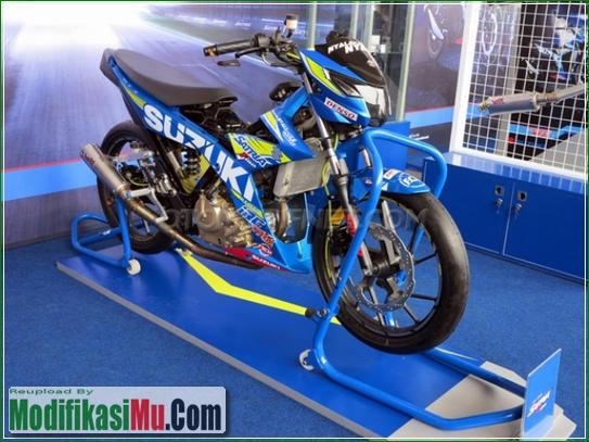 Hasil CUtting Sticker - Modifikasi All New Suzuki Satria F150 FI Sporty Untuk Balapan Terbaru