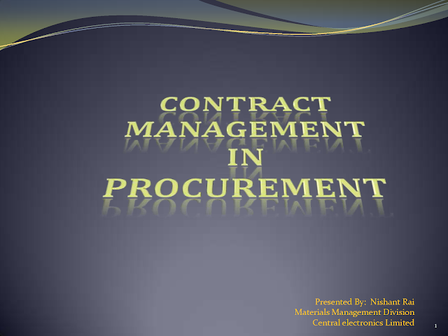 Contract Management in Procurement