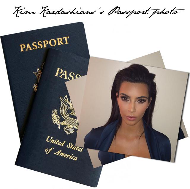 Kim Kardashians's Passport photo