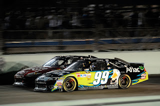 Tony Stewart in the #14 and Carl Edwards in the #99 go head-to-head.