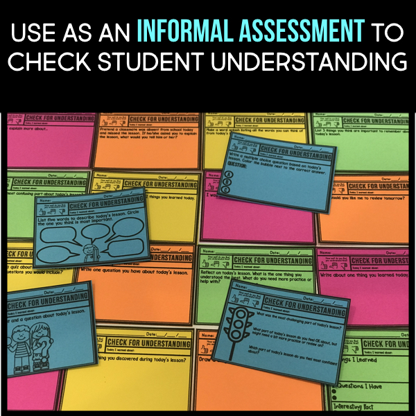 Check out these formative assessments, which go by many names: Exit ticket, exit prompt, exit pass, and exit card. They guide students through assessing their learning from that day and provide meaningful feedback to teachers. Students can work on them independently, with partners, or even in small groups. #exitticket #exitslip #exitprompt #exitpass #exitcard #formativeassessment #elementary #commoncore #firstgrade #1stgrade #secondgrade #2ndgrade #thirdgrade #3rdgrade #fourthgrade #4thgrade #fifthgrade #5thgrade #cfclassroom #clutterfreeclassroom