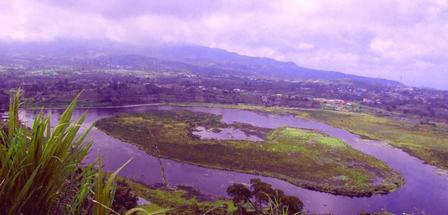 Danau Mas Harun Bastari di lihat dari Gedung Diklat
