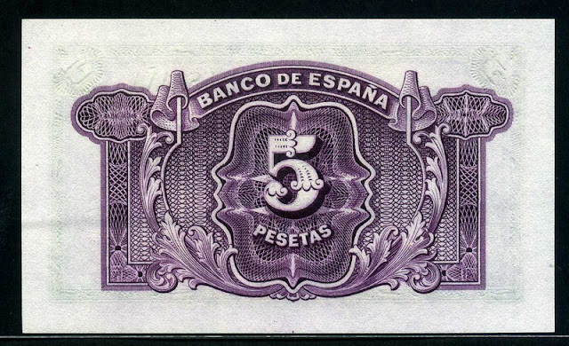 Spain currency money 5 Pesetas
