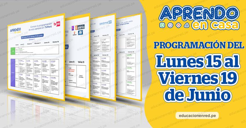 APRENDO EN CASA: Programación del Lunes 15 al Viernes 19 de Junio - TV Perú y Radio - www.aprendoencasa.pe