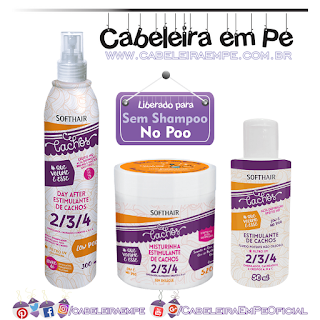 Linha Estimulante de Cachos - Soft Hair (Misturinha, Fluido e Spray Day After - Liberados para No Poo)
