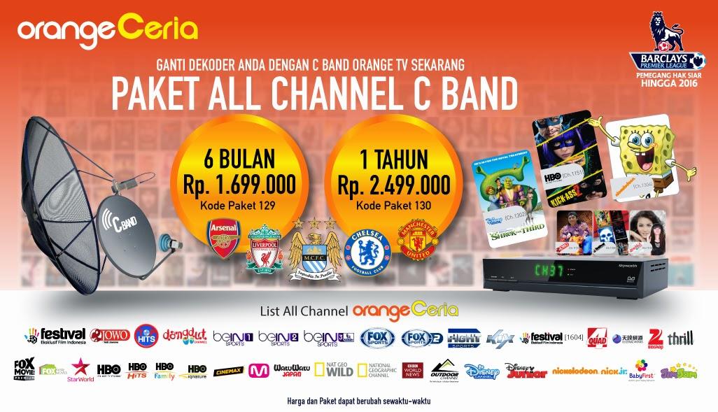 Paket All Channel Orange TV C Band