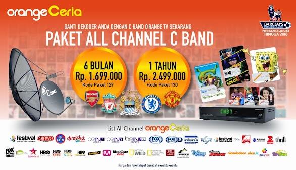 Daftar Channel Paket Orange TV C Band 2017