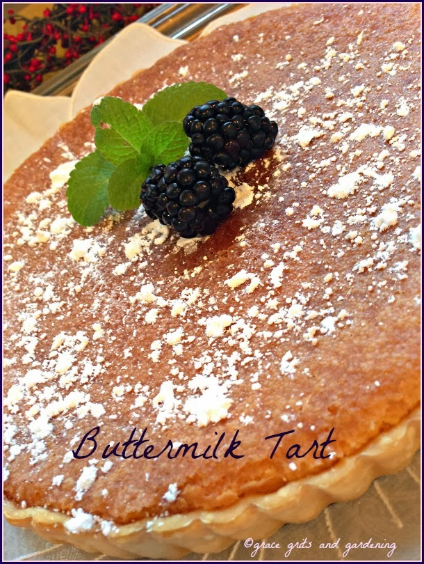 Easy Buttermilk Tart Recipe. Beautiful too!