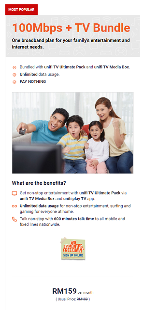 100Mbps + TV Bundle