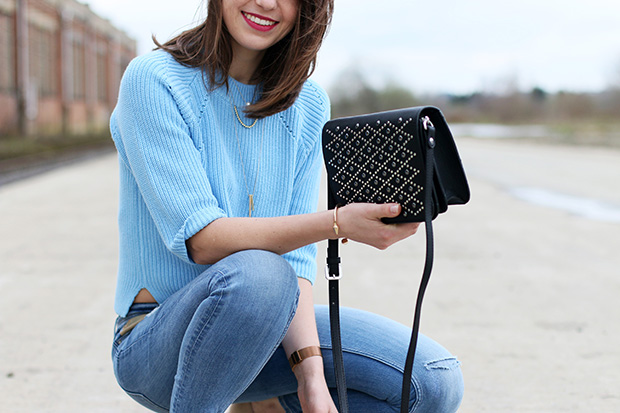 Cropped sweater for spring