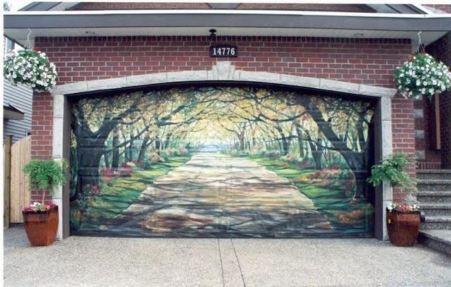 Green Pear Diaries, arte urbano, street art, grafiti, puertas de garaje