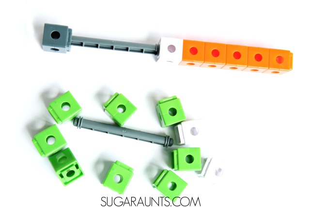 Make a lightsaber using counting cubes. This is perfect for a Star Wars fan!
