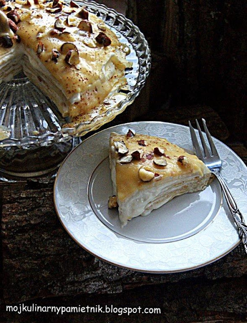 nalesniki, toffi, tort, deser, bernika, kulinarny pamietnik, ciasto