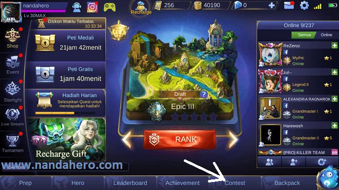 cara tinggalkan squad mobile legends