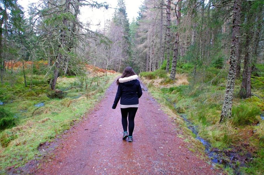 Girl exploring Scottish Highlands