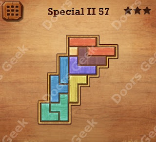 Cheats, Solutions, Walkthrough for Wood Block Puzzle Special II Level 57