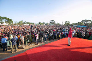 President Uhuru Kenyatta Rally at Tononoka in Mombasa. PHOTO | Courtesy