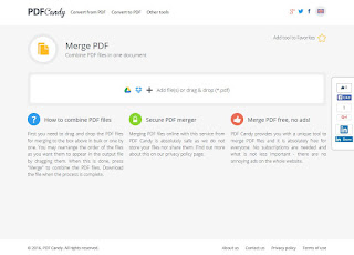 PDF Candy free on line service for processing of PDF files