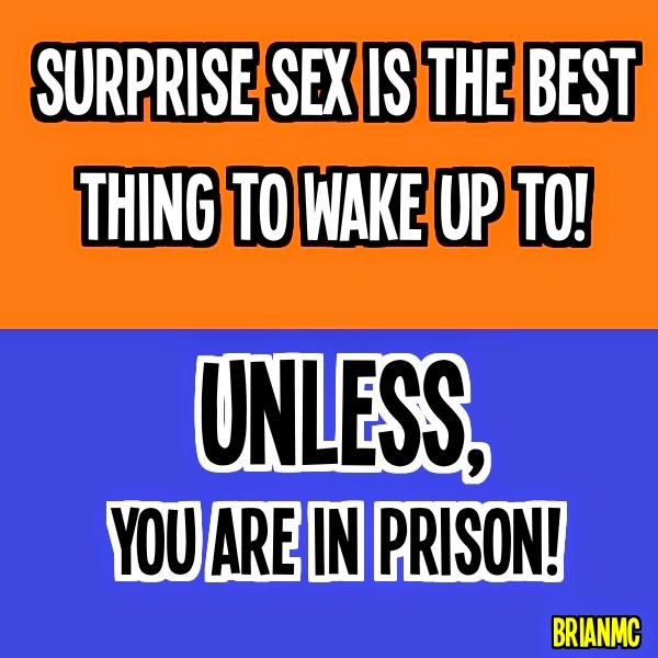 suprise sex, quote adapted by BrianMc