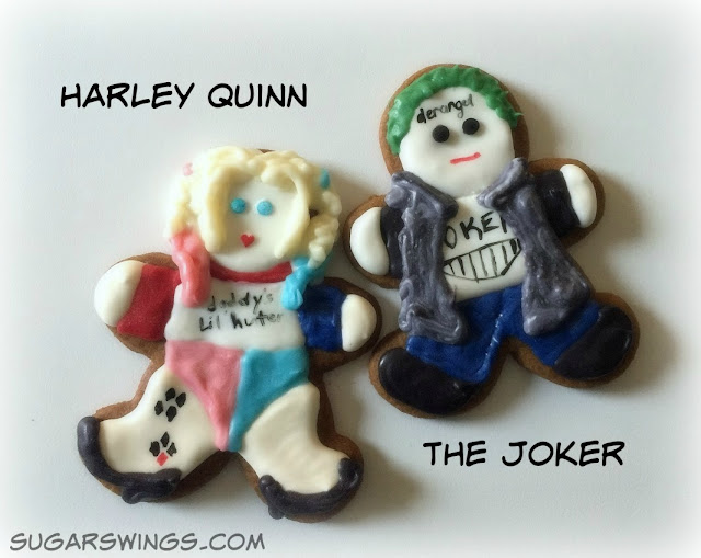 Harley Quinn and Joker cookies