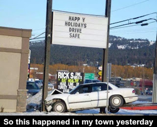happy holidays drive safe message