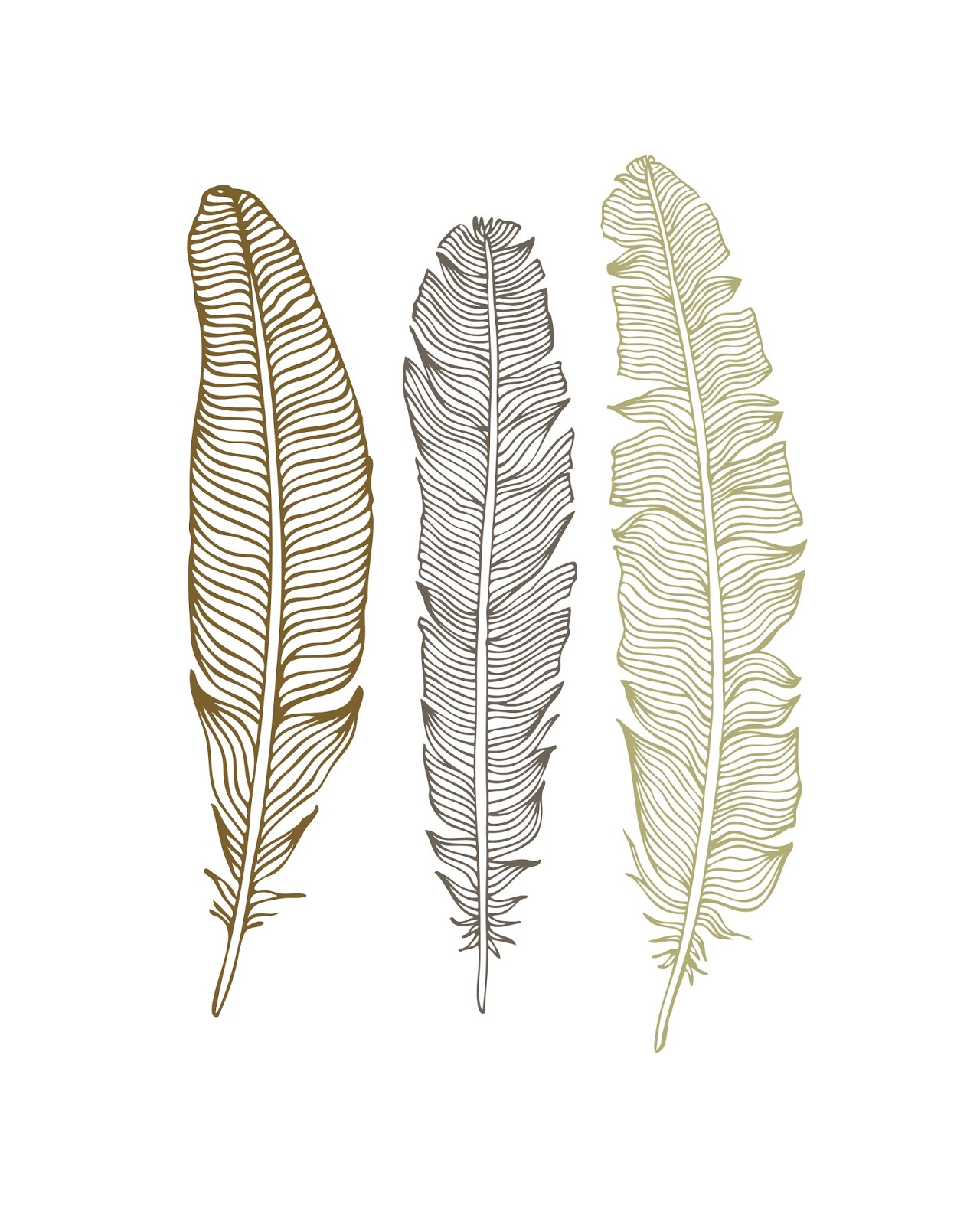 FREEBIES // FEATHER PRINTABLES - Oh So Lovely Blog