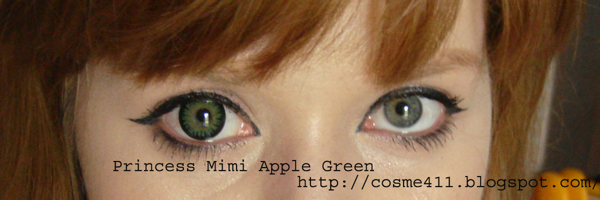 Apple Green ...Dark Grey Green Eyes