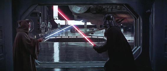 Darth Vader y Obi wan Kenobi. La guerra de las galaxias