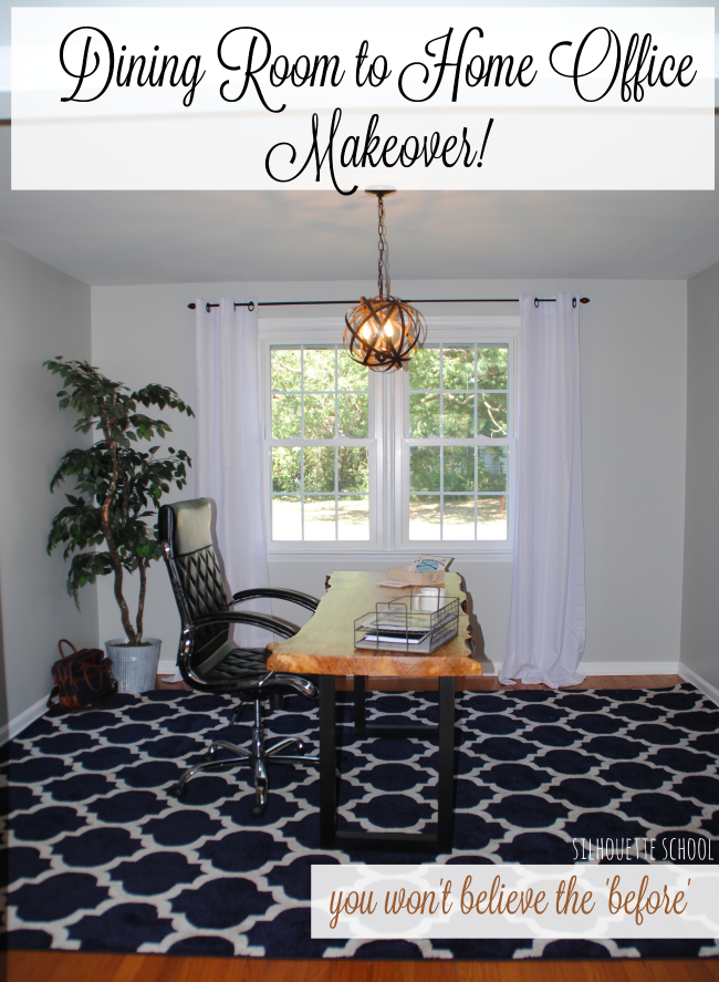 Dining room to home office makeover reveal wayfair