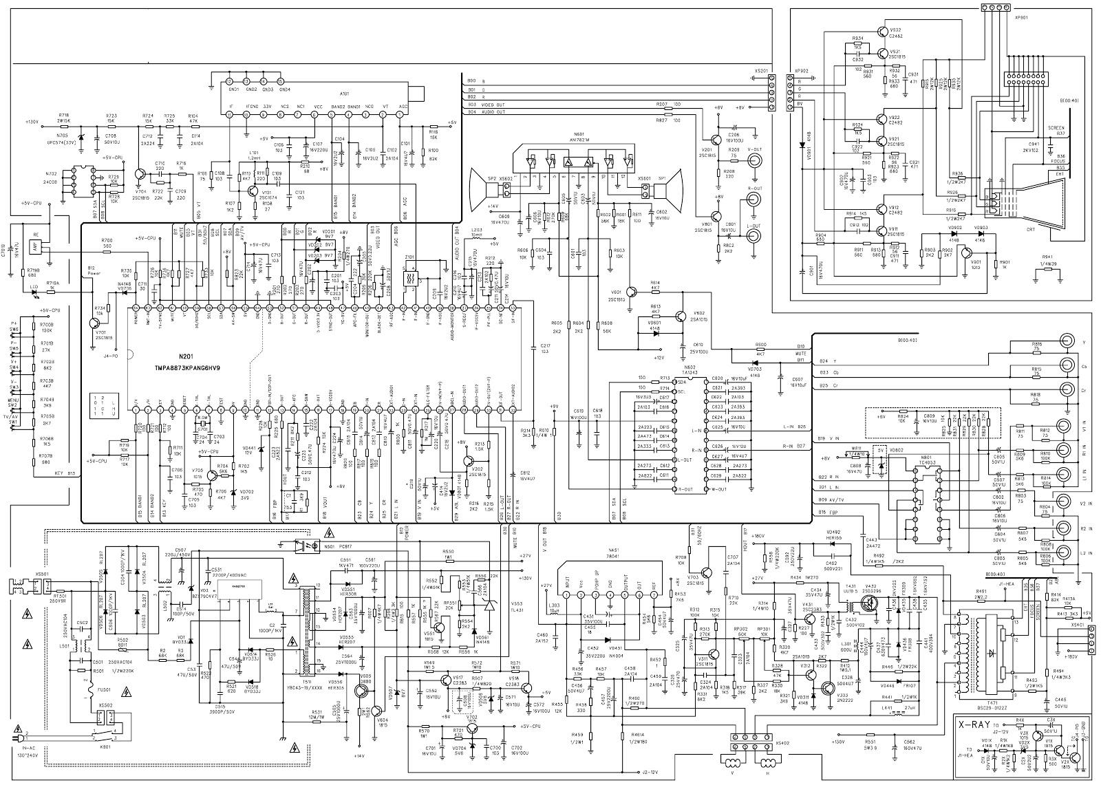 Colour Tv Circuit Diagram
