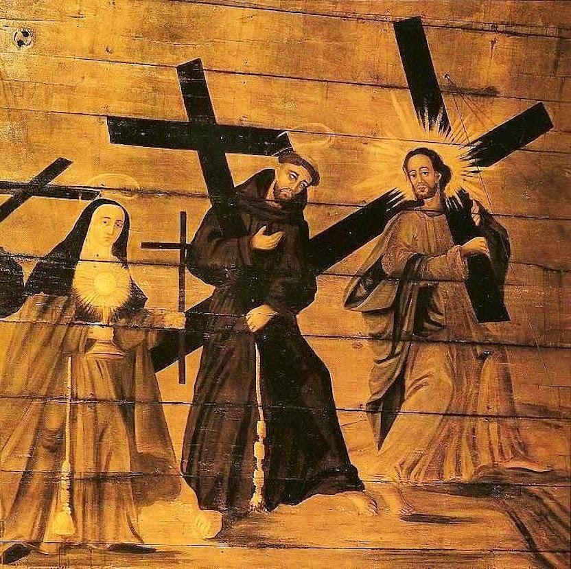 São Francisco, Mosteiro da Luz, São Paulo, pintura de teto realizado pelas freiras em clausura no mosteiro.jpg