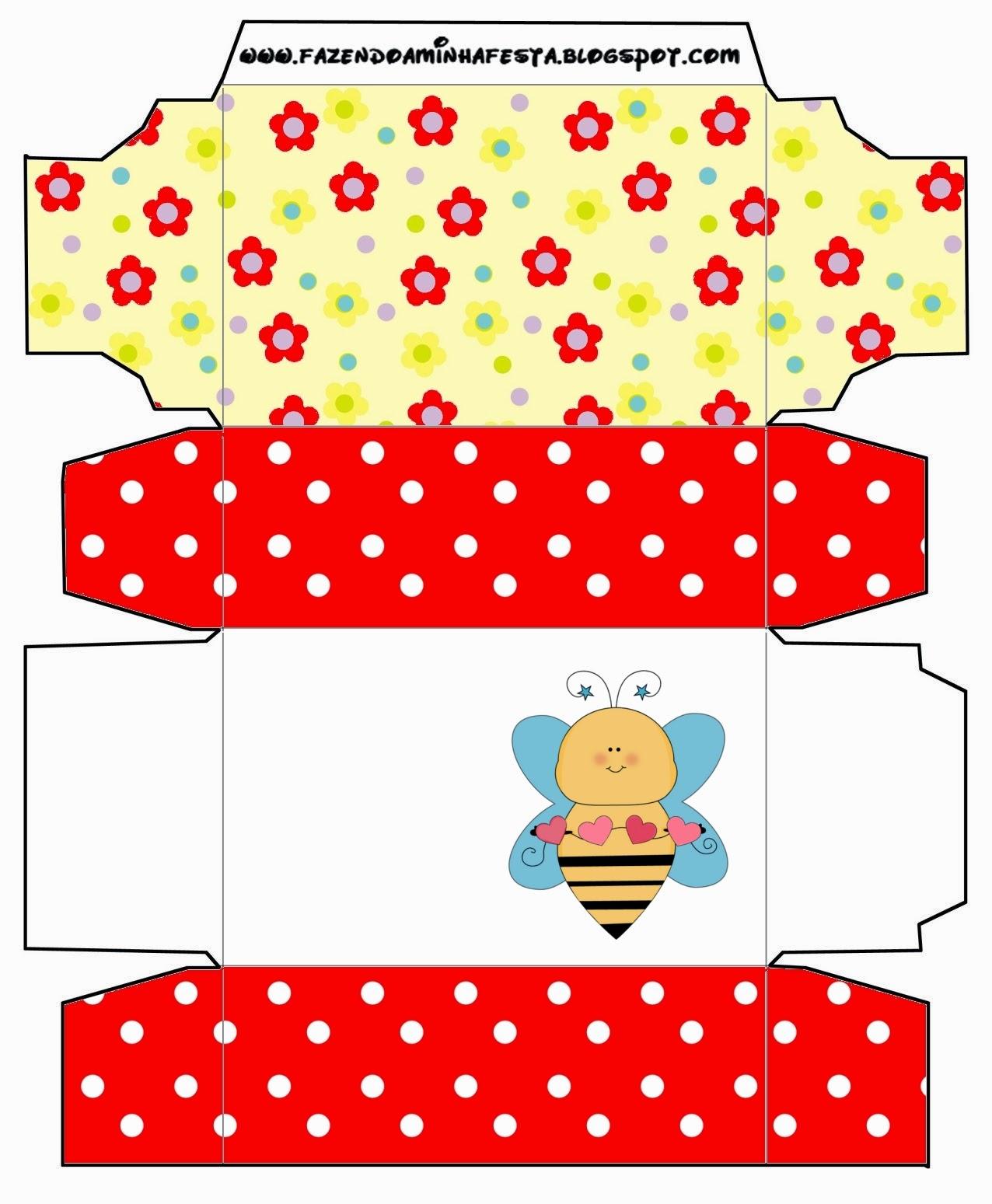 Bees  Free Printable Box.
