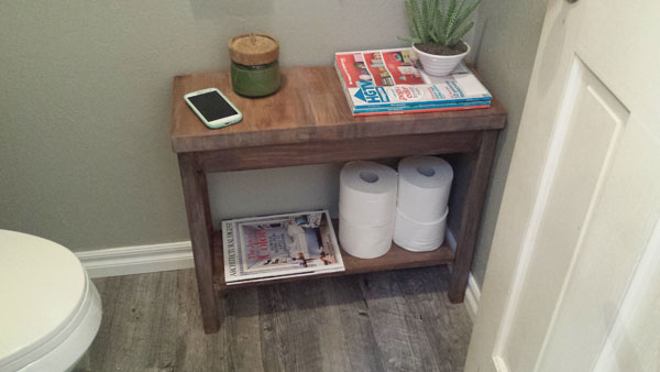 reading materials making guest bathroom more welcoming