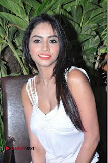 Actress Model Pooja Sri Stills in White Short Dress at F Club pre soft Launch  0074.JPG