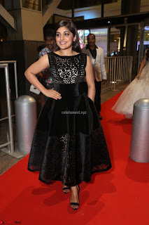 Niveda Thomas Black Sleeveless Cute Dress at 64th Jio Filmfare Awards South 2017 ~  Exclusive 097.JPG