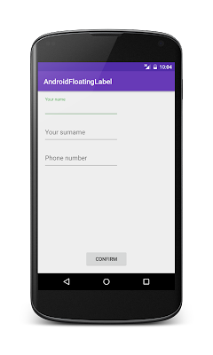 Android Design Support Library: TextInputLayout - Floating Label