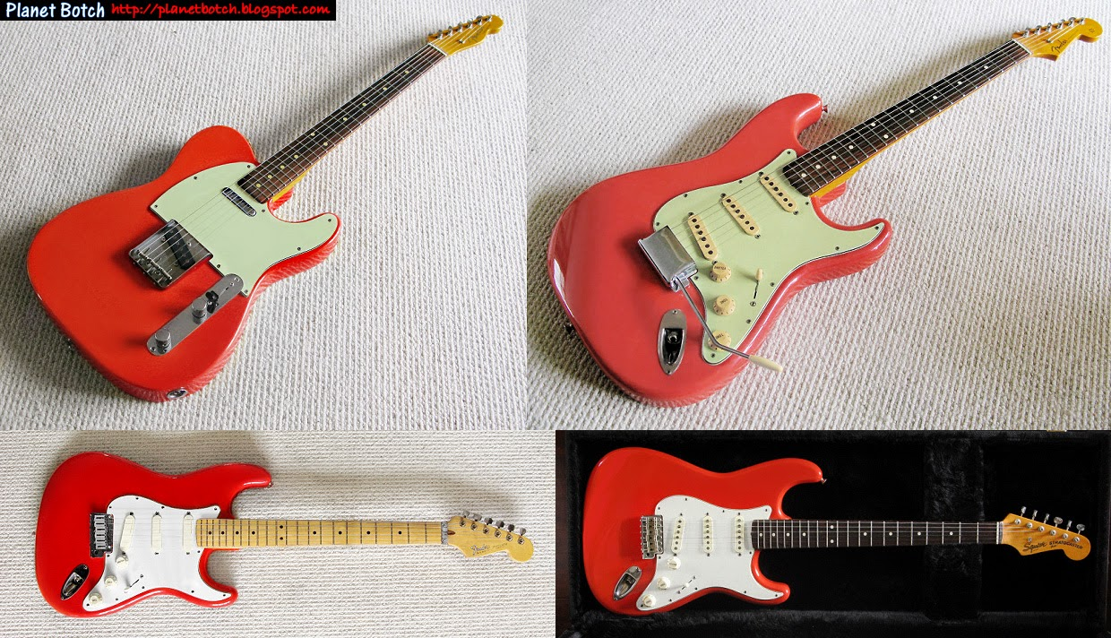 Fender Colour Mysteries Fiesta Red And Salmoncoral Pink Planet Botch