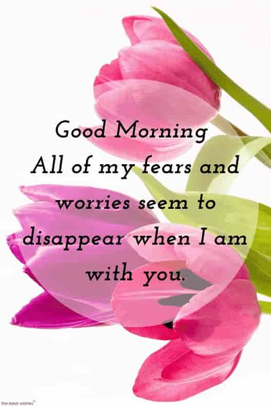 best good morning hd images for boyfriend with flowers and message